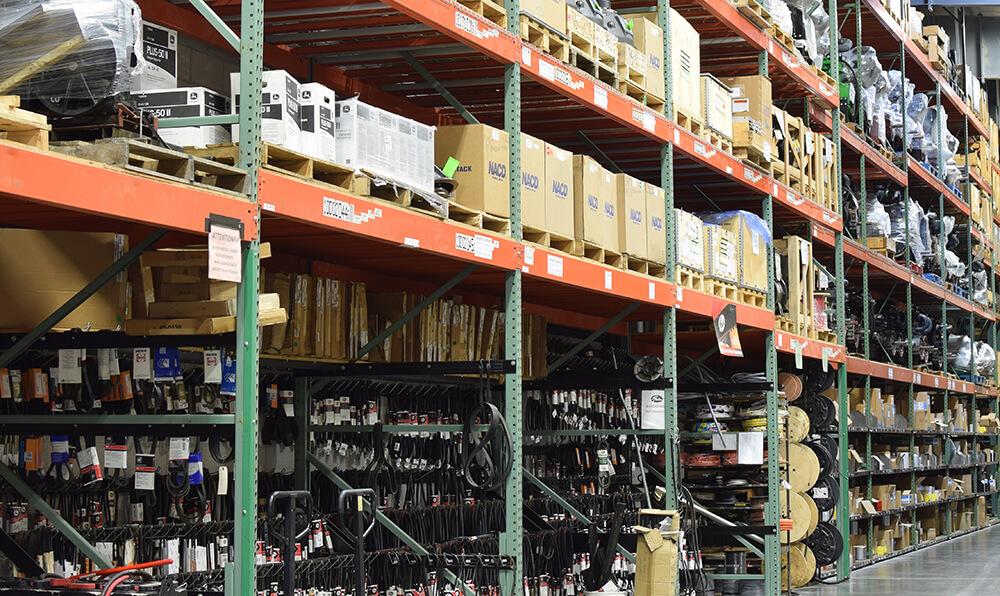 parts warehouse at HooverTec