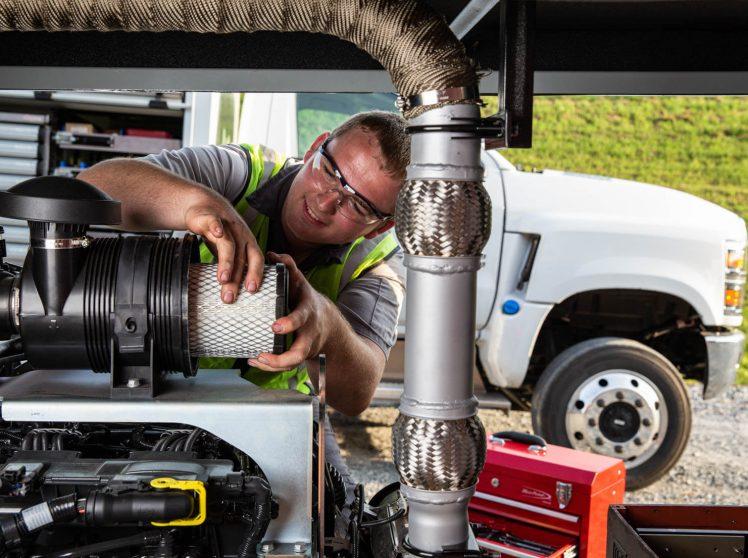 Preventative maintenance on generator