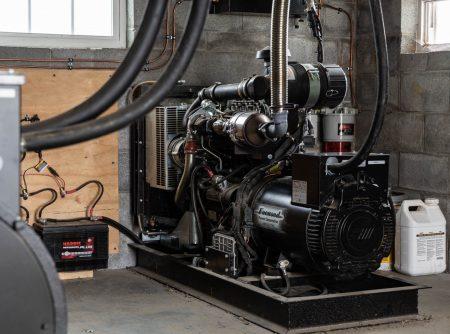 working diesel engine